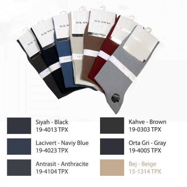 AGK1151 ÇS Penye Düz 2050 Soket Dikişsiz Erkek Çorap
